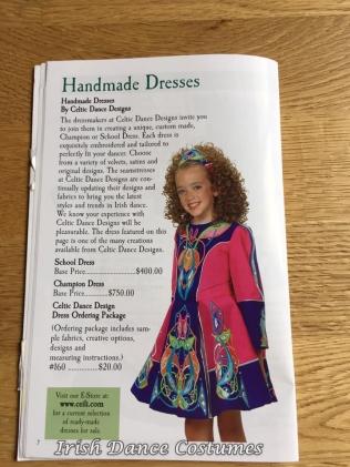 watermarked-2020 - 010 - Céilí Company Catalogue dress 2001 - 02
